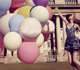 Venta al por mayor coloridos 36 pulgadas de globos gigantes globos de globo de helio inflables grandes globos de látex grandes para la decoración de bodas de fiesta de cumpleaños desde globos inflables gigantes fabricantes