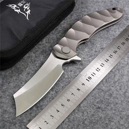 Wholesale Magic OEM Chav Custom Large steel ball bearing Folding Knife D2 Titanium Camping Hunting Survival Knives Outdoor EDC Tools