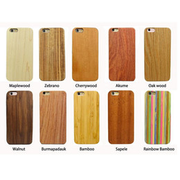 Wholesale Blank Wood Case Cover PC iphone s mobile phone case with best price and hot sale