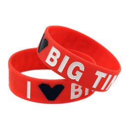 50PCS Lot I Love Big Time Rush Silicone Wristband 3 4 Inch Wide Bracelet Perfect Gift for Music Fans