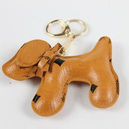 Wholesale New Charms Keychain Fashion Backpack Chain Pendant Creative Unisex Pu Animal Dog backpack Gift
