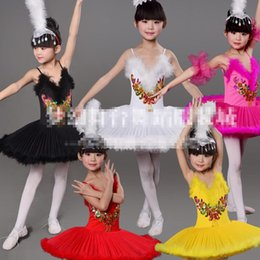 Colors Girls Classical Ballet Tutu Dress Children Swan Lake Ballet Costume Dancing dress Kids Performance Ballroom Ballet Danceware Outfits