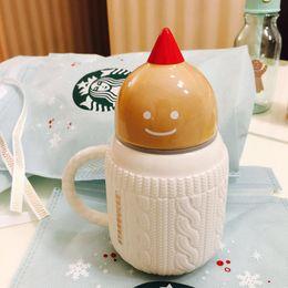 Wholesale Starbucks Bone China Cups - Genuine Christmas Limited Starbucks The gingerbread man sweater Mug 12oz white ceramic cup Coffee cup Xmas gift