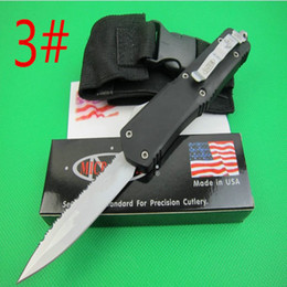 microtech troodon A07 white blade 3 models Hunting Folding Pocket Knife Survival Knife benchmade Xmas gift for men 1pcs freeshipping