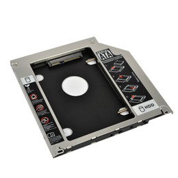 Wholesale Universal mm Second HDD Caddy nd SATA Hard Disk Drive quot SSD Enclosure for Macbook Pro Air etc CD DVD ROM