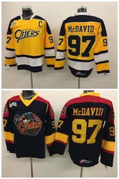 Wholesale Top Quality Men Erie Otters Hockey Jerseys Cheap Connor McDavid Jersey Authentic Stitched Jerseys Oilers McDavid Mix Order