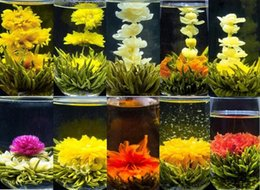 Wholesale 12 kinds of the blooming art tea craft tea made of different colorful flowers individula vacuum package tea