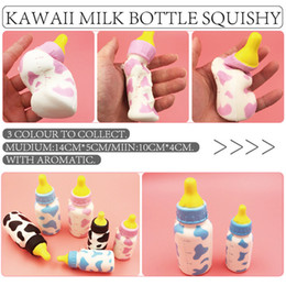 Wholesale 30PCS CM CM New Squishy Feeding Milk Bottle Toy Cellphone Straps Slow Rising Bread Cream Scented Fun Toy Gift