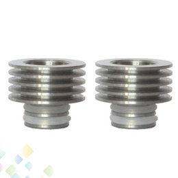 Wholesale Newest Drip Tip Heat Sink Adaptor Finned Heat Sink for Drip tip Bottom attached Fit Drip tip Mouthpieces DHL Free