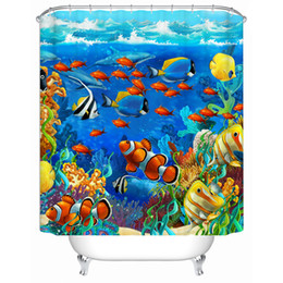 Wholesale 17 Color Bathroom Shower Curtain Waterproof Polyester With Pure Copper Holes Pastic Rings Toilet Door Curtain