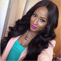 Wholesale Fabulous A Body Wave Full Lace Front Lace Wigs With Baby Hair Virgin Peruvian Human Hair Wavy Wigs Density DHL