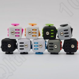 Wholesale 13 Colors Magic Fidget Cube Camouflage Desk Toy Stress Anxiety Relief Adults Kids Focus Toys Fidget Spinner OOA1207