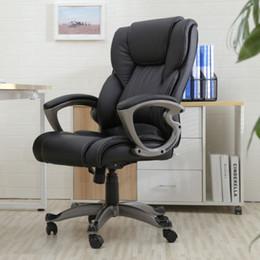 Wholesale Black PU Leather High Back Office Chair Executive Task Ergonomic Computer Desk