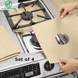 Wholesale Stovetop Reusable Aluminum Foil Gas Stove Protectors Cover Liner Reusable Non Stick Silicone Dishwasher Safe kitchen supplies