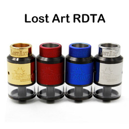 Wholesale Lost ART RDTA Goon Atomizer mm Diameter Goon RDA Vaporizer With Metal Wide Bore Drip Tip