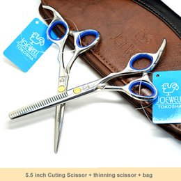 "Free Shipping:5.5"" Professional Barber Scissors Set Haircut Scissors for hairdresser salons using Cutting +Thinning shears Kit"