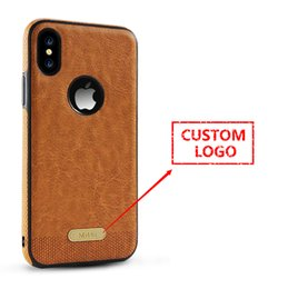Wholesale Personalized Customize Leather Pattern Phone Case Cover for iPhone 8 Smartphone Case with Logo Hole