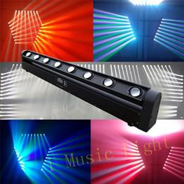 2pcs / Lot 10W * 8PCS 4IN1 RGBW Cree LED Moving Head Beam Bar Light, LED Eight Beam Light, éclairage DMX, 9 / 38Channel DJ Show à partir de rgbw conduit faisceau mobile de la tête fournisseurs