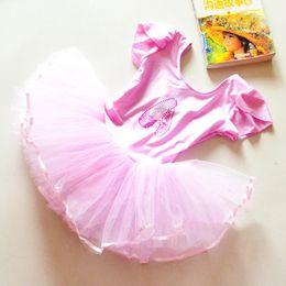 Flower Girls Ballet Dress For Children Girl Dance Clothing Kids Ballet Costumes For Girls Dance Leotard Girl Dancewear 3 Color