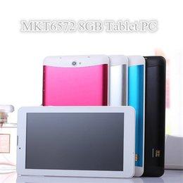 "Compra Online Dhl de la tableta de 8 gb-10X DHL 7 ""7 pulgadas 3G teléfono llamada Tablet PC MTK6572 Dual Core Android 4.4 Bluetooth Wifi 8GB 512MB de doble cámara de tarjeta SIM GPS"