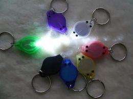 Mini white light 22000mcd LED Flashlight Keychain Torch Gift Kids Toys LED Light Keychain Hand-Pressing Flashlight 7colours Brand New