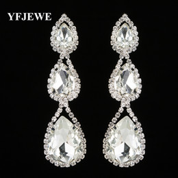 YFJEWE Fashion Brand Rhinestone Classic Crystal Earring Gold and Silver Color Bridal Wedding Jewelry Guft Drop Shipping E290