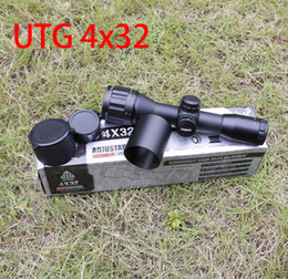 Wholesale Leapers UTG x32 AO RGB red green black Riflescope Hunting Scope Mil dot Classic Compact Optics with sun shade