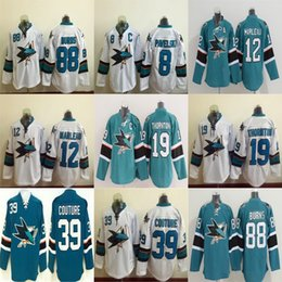 2016 New, Youth Sharks jersey 88 Brent Burns 8 Joe Pavelski 12 Patrick Marleau 39 Logan Couture 19 Joe Thornton Ice Hockey Jersey