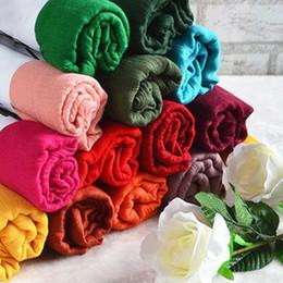 Promotion foulards en coton de marque de gros Vente en gros-180 * 85CM Cachecol Feminino 2015 Brand New Designer de mode solide long coton mélangé écharpes occasionnels femmes écharpes WJ001