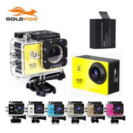 Promotion caméra de voiture de vélo Grossiste - GOLDFOX SJ 4000 HD Action Sports Waterproof Camera DV 720P Caméras Casque Bike voiture Sports Mini CAM avec boîte de détail mini caméra
