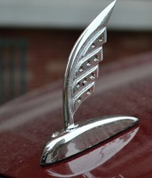 Wholesale Car Sticker D Emblem Feather Car Front Cover ABS Plating Silver Hood Ornament Bonnet Emblems Sliver