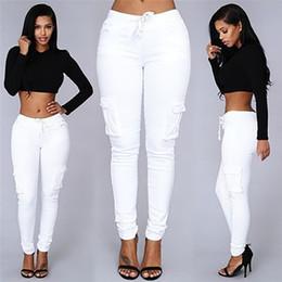 High recomienda 4 color popular estilo americano sexy pantalones vaqueros apretados mujeres de pantalón de pantalones de mano de la pierna de bolsillo capris más tamaño desde vaqueros de las muchachas populares proveedores