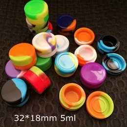 Wholesale Nonstick wax containers silicone box ml silicon container food grade jars dab tool storage jar oil holder for vaporizer vape FDA approved