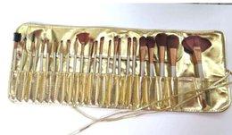 Conjunto de maquillaje cepillo de bajo precio en Línea-El precio bajo / alta calidad / nuevo desnudo # 3 caliente 12pcs 24 cepillos del maquillaje de las PC 32pcs / set con la bolsa de cuero