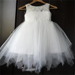 Brand New Real Flower Girl Dresses Backless Communion Party Ball Pageant Dress for Little Girls Kids Children Dress for Wedding