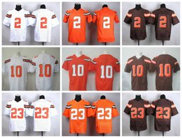 johnny manziel jerseys Promotion New 2017 Mens Elite # 10 Robert Griffin III 2 Johnny Manziel 23 Joe Haden Football Limited Maillots de jeu cousus Livraison gratuite Minging1225