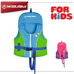 Wholesale 2017 AAA Newest Summer Swimming Life vest Children s Inflatable Swimming Jacket Bathing Suit for Kid Candy Color Safety Product Brand WINMAX