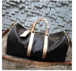 60CM Men duffle bag 2018 new fashion women travel bag, brand designer luggage handbags large capacity sport bag