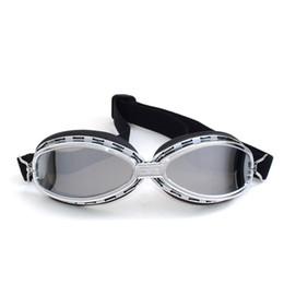Cascos de moto de época en Línea-2017 MJMOTO Vidrio de motocicleta casco gafas a prueba de viento de moto abierta frente a la vendimia cascos clásicos astilla marco gafas