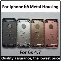 Wholesale 6s Metal Housing new for S Aluminum Assembly Naked Back Case Replacement Case For iPhone S Mid Medium Frame Bezel Complete cover