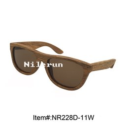 brown polarized lenses solid wood sunglasses