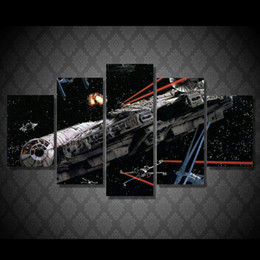 5 Pcs Set Framed HD Printed Hot Movie Space Ship Movie Picture Wall Art Canvas Room Decor Poster Canvas Modern Oil Painting