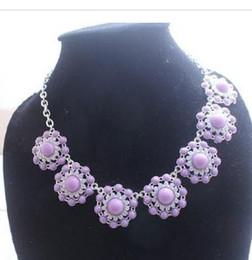 wonderful purple diamond sunflower lady's pendant necklace (xysppfh)