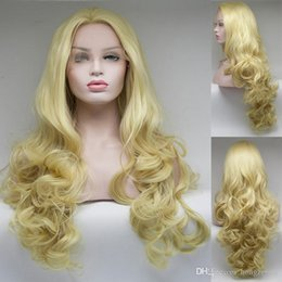Half Handmade Lace Front Wigs Blonde Roots Glueless Synthetic High Temperature Heat Resistant Fiber Hair Fully Wig Free Shipping