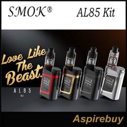 Wholesale SMOK AL85 Kit W AL85 Mod with ML TFV8 Baby Tank W Output Combines Cloud Beast Tank Top Battery Slot Compact Size AL85 Kit Original