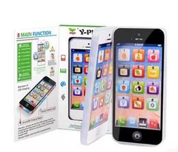 Wholesale Early childhood music mobile phones English apple machine learning YPhone s simulation toys many lovely design