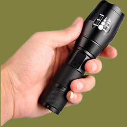 Wholesale Flashlights Alone Fire CREE T6 home bikes Aluminum Waterproof Zoomable CREE LED Flashlight Torch light for Rechargeable Battery or AAA