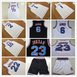 Wholesale Space Jam Tune Squad Looney Tunes Bill Murray Bugs Bunny Jersey White Daffy Duck Lola Bunny TAZ Jerseys White