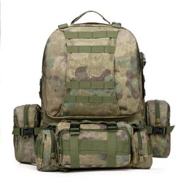 New arrival 50L Molle Tactical Assault Outdoor Military Rucksacks Backpack Camping Bag Large 11Color 50 pcs