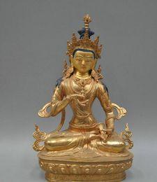 12'' China Tibet Vajrasattva Buddha Bronze Statue